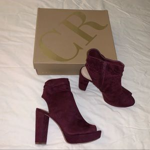 Charlotte Russe new burgundy ankle booties size 7